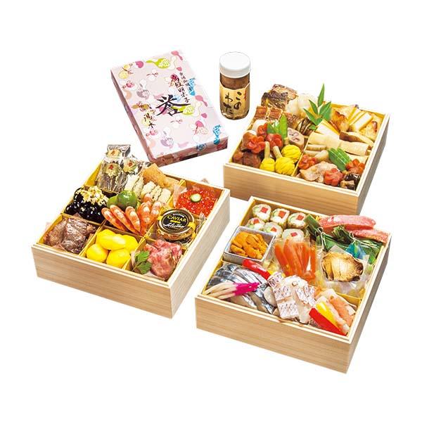 ●【12月31日(金)お届け】【184】日本料理 湯木 5~6人用、三重折「匠」(和風)